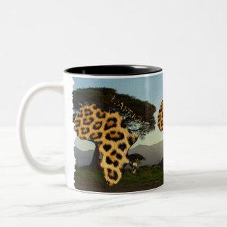 Mapa de pontos do leopardo de ÁFRICA & de caneca