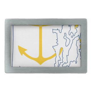 Mapa de Rhode - ilha da bandeira