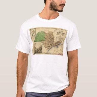 Mapa de São Paulo, Brasil (1886) Camiseta