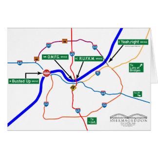Mapa de Shermageddon Cartão Comemorativo
