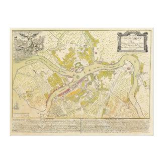 Mapa de St Petersburg Rússia feito em 1737