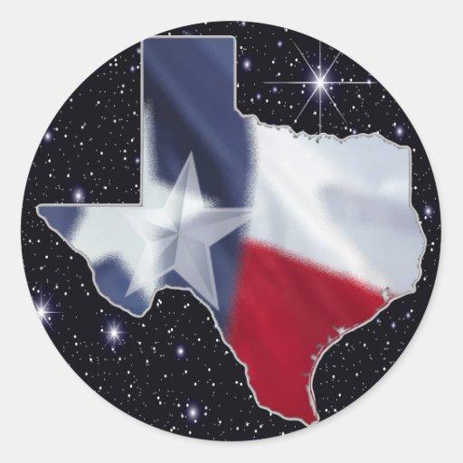 Mapa de Texas Adesivos Em Formato Redondos