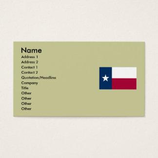 Mapa de Texas e bandeira do estado Cartão De Visitas