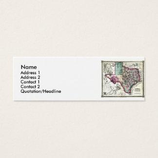 Mapa de Texas e bandeira do estado Cartão De Visitas Mini