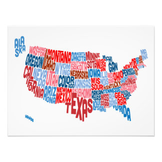 Mapa de texto da tipografia dos Estados Unidos Foto Artes