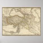 Mapa de Turquia Syria Impressão