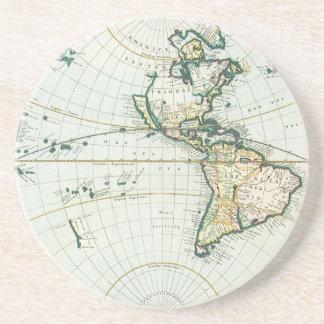 Mapa de Velho Mundo antigo por viscosidades de Pie Porta Copo