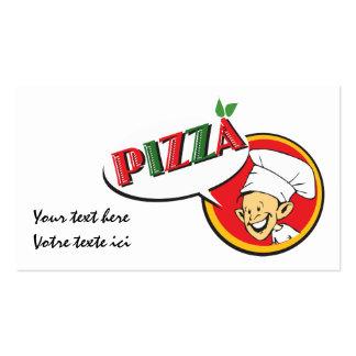 Mapa de visita pizza cartões de visitas