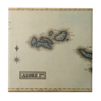 Mapa do atlas das ilhas de Azore