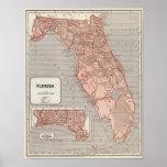 Mapa do atlas de Florida Poster
