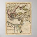 Mapa do atlas de Médio Oriente Pôsteres