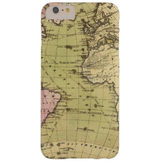 Mapa do atlas de Oceano Atlântico Capa Barely There Para iPhone 6 Plus