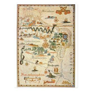 Mapa do cartão 1558 de Ámérica do Sul