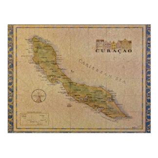 Mapa do cartão de Curaçau