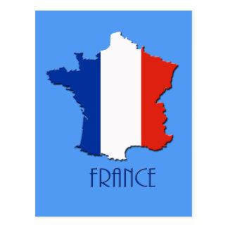 Mapa do cartão de France Cartao Postal