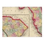 Mapa do condado de Florida Cartão Postal
