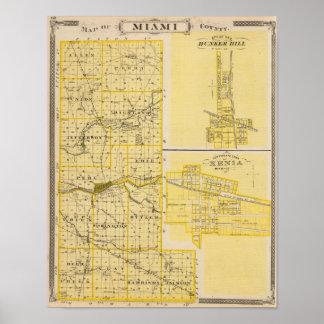 Mapa do Condado de Miami Poster
