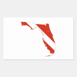 Mapa do estado de bandeira do mergulho da silhueta adesivo retangular