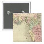 Mapa do estado do Flórida Bóton Quadrado 5.08cm