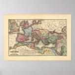 Mapa do império romano posteres