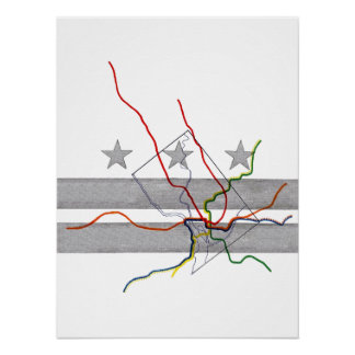 Mapa do metro da C.C. Pôster