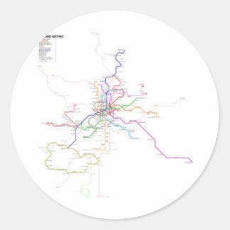 Mapa do metro de Espanha-Madrid Adesivo