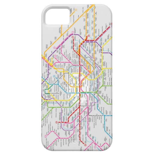 Mapa do Metrô de Paris - Capa de iPhone 5