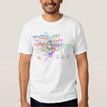 Mapa do metro de Tokyo Japão T-shirt