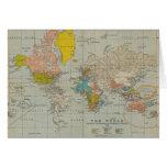 Mapa do mundo 1910 do vintage cartão