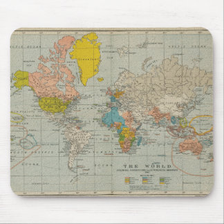 Mapa do mundo 1910 do vintage mouse pad