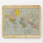 Mapa do mundo 1910 do vintage mousepad