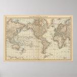 Mapa do mundo 2 pôsteres