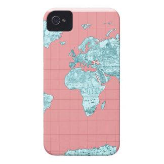 mapa do mundo 7 capas para iPhone 4 Case-Mate