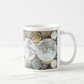 Mapa do mundo antigo, atlas Maritimus pelo Caneca De Café