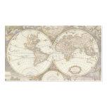 Mapa do mundo antigo, C. 1680. Por Frederick de Sa Modelo De Cartões De Visita