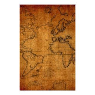 Mapa do mundo antigo papelaria