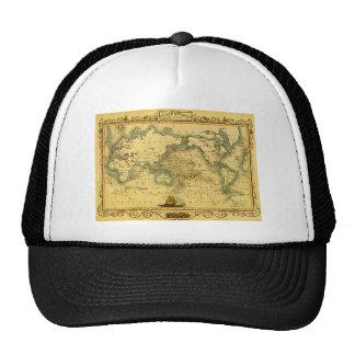 Mapa do mundo antigo velho boné