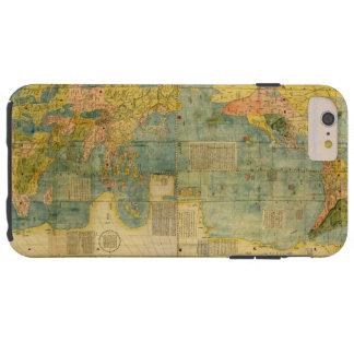Mapa do mundo do japonês de Kunyu Wanguo Quantu Capa Tough Para iPhone 6 Plus