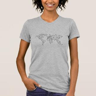 Mapa do mundo geométrico camiseta