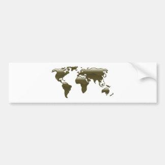 Mapa do mundo líquido do óleo adesivos