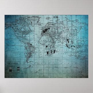 Mapa do mundo original poster