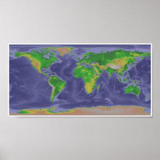 Mapa do mundo pôster