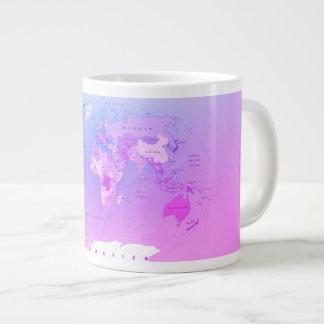 Mapa do mundo toda a caneca dos nomes de países