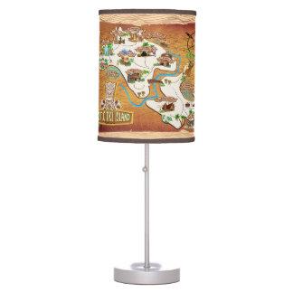 Mapa do oficial 2017 da lâmpada exótica da ilha de