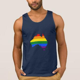 Mapa do orgulho do arco-íris de LGBT de Austrália