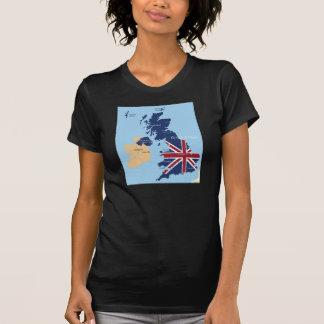 Mapa do t-shirt das mulheres de Grâ Bretanha