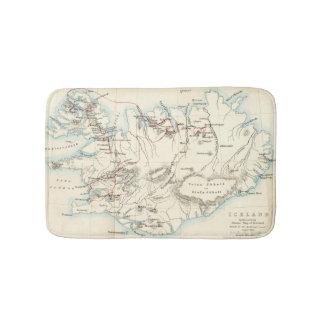 Mapa do tapete de banho de Islândia