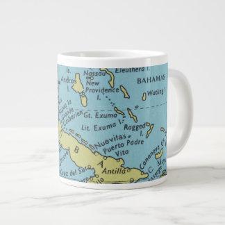 Mapa do vintage da caneca de Cuba