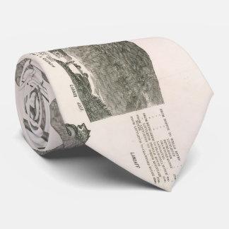 Mapa do vintage das montanhas brancas (1871) gravata