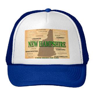 Mapa do vintage de New Hampshire Boné